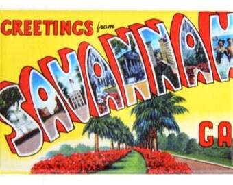 Greetings from Savannah Georgia Fridge Magnet