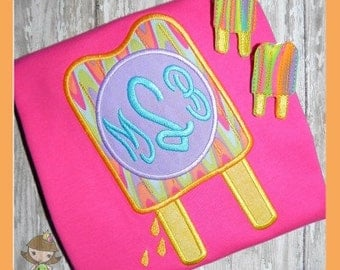 Monogram Popsicle Applique design