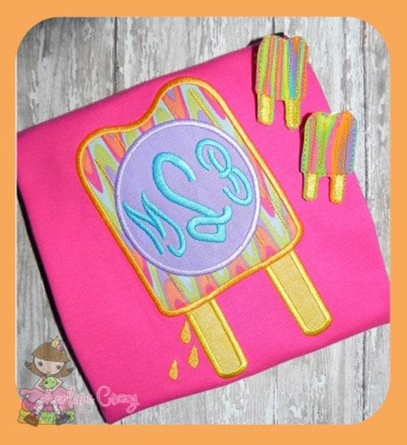 Monogram Popsicle Applique design