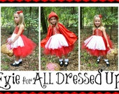 Little Red Riding Hood TUTU DRESS and Cape and Tutu Costume SIZES 3t-5t