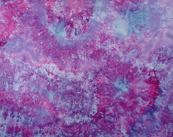 Hand Dyed  Fabric, Ice Dyed Quilt Cotton, Sweet Dreams, 1 Yard (LS) #205