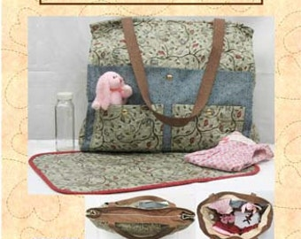 Baby Pattern, Diaper Bag and Mat, Ultimate Diaper Bag and Changing Mat Pattern