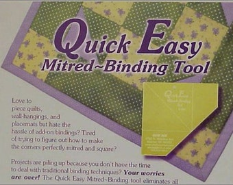 Quick and Easy Mitered Binding Tool, Quilting Ruler, Sewing Ruler, Crafts Ruler