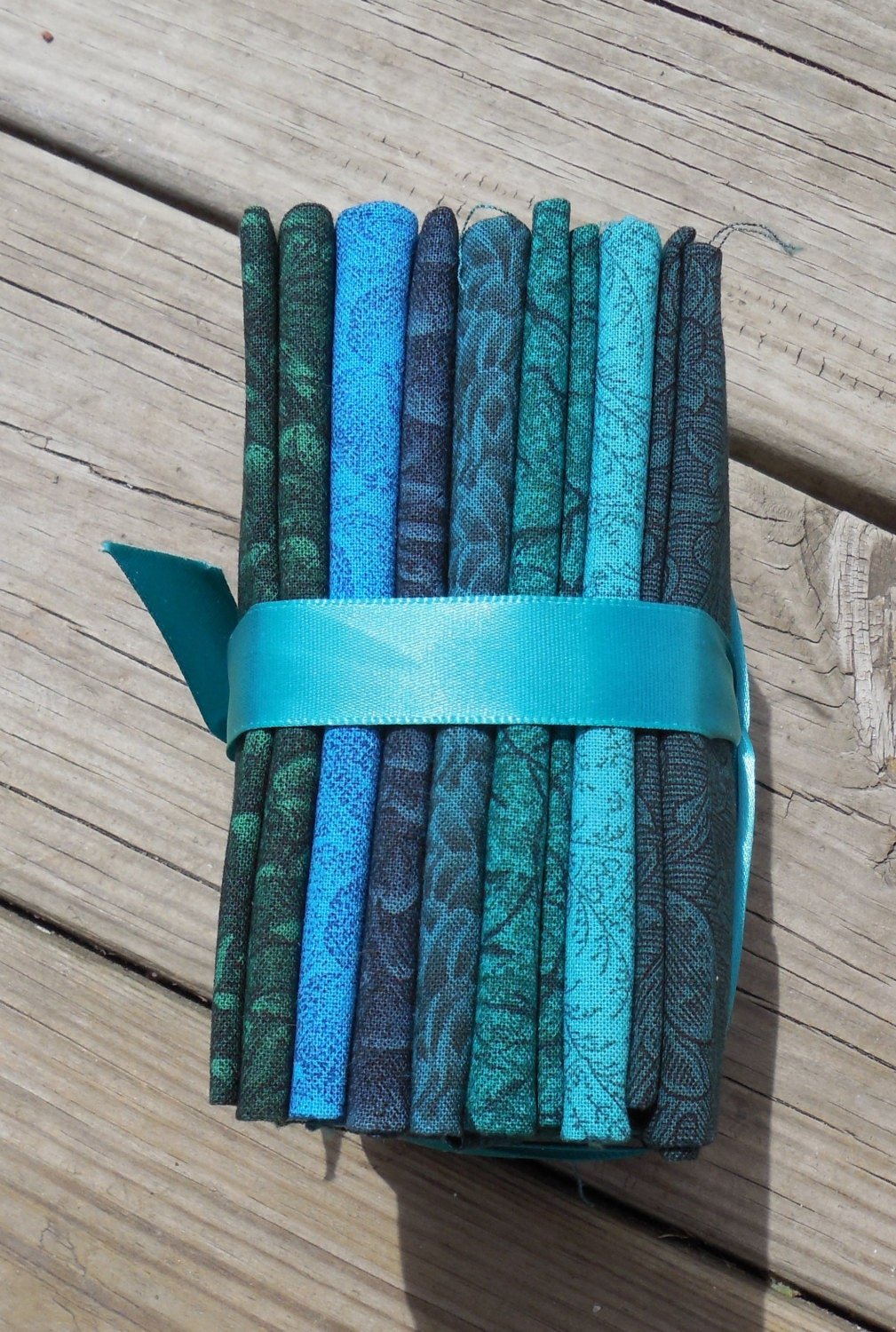 Fat Quarter Bundle Shades Of Teal Green Aqua And Blue 7