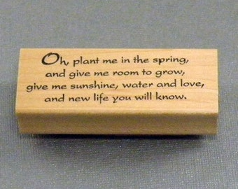 Rubber Stamp Oh, plant me...