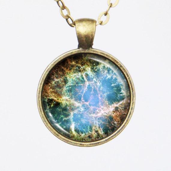 Constellation Necklace Crab Nebula Image Necklace Galaxy