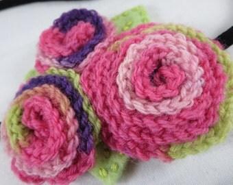 Crocheted Blossom Headband