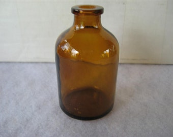 Vintage Small Brown Medicine Bottle