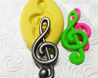 Music Note Mold Flexible Silicone Rubber Push Mold for Resin Wax FIMO Fondant Royal Icing Chocolate Polymer Clay Metal Clay