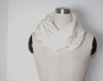 Ivory bridal scarf, pure peace silk off white neck wrap for weddings, bridesmaids gifts, mother of the bride favors. Long scarves hand woven