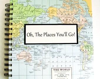 Graduation Gift Travel Journal - Custom Map