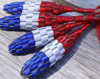 4th July American Flag Organic Lavender Wand Patriotic Decor home decor floral Decoration Red White and Blue USA Americana Summer Outdoors