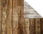 NEW ITEM / 5ft x 5ft REVERSIBLE Vinyl Backdrop / Double sided / Western Worn Wood