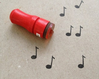 Mini Music Note Rubber Stamp