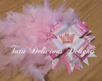 Pretty Pink Princess Hair Bow