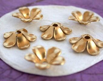 Stampings, Brass Flower Stampings, Metal Stamped Flowers, Vintage Style Metal Flowers STA-103