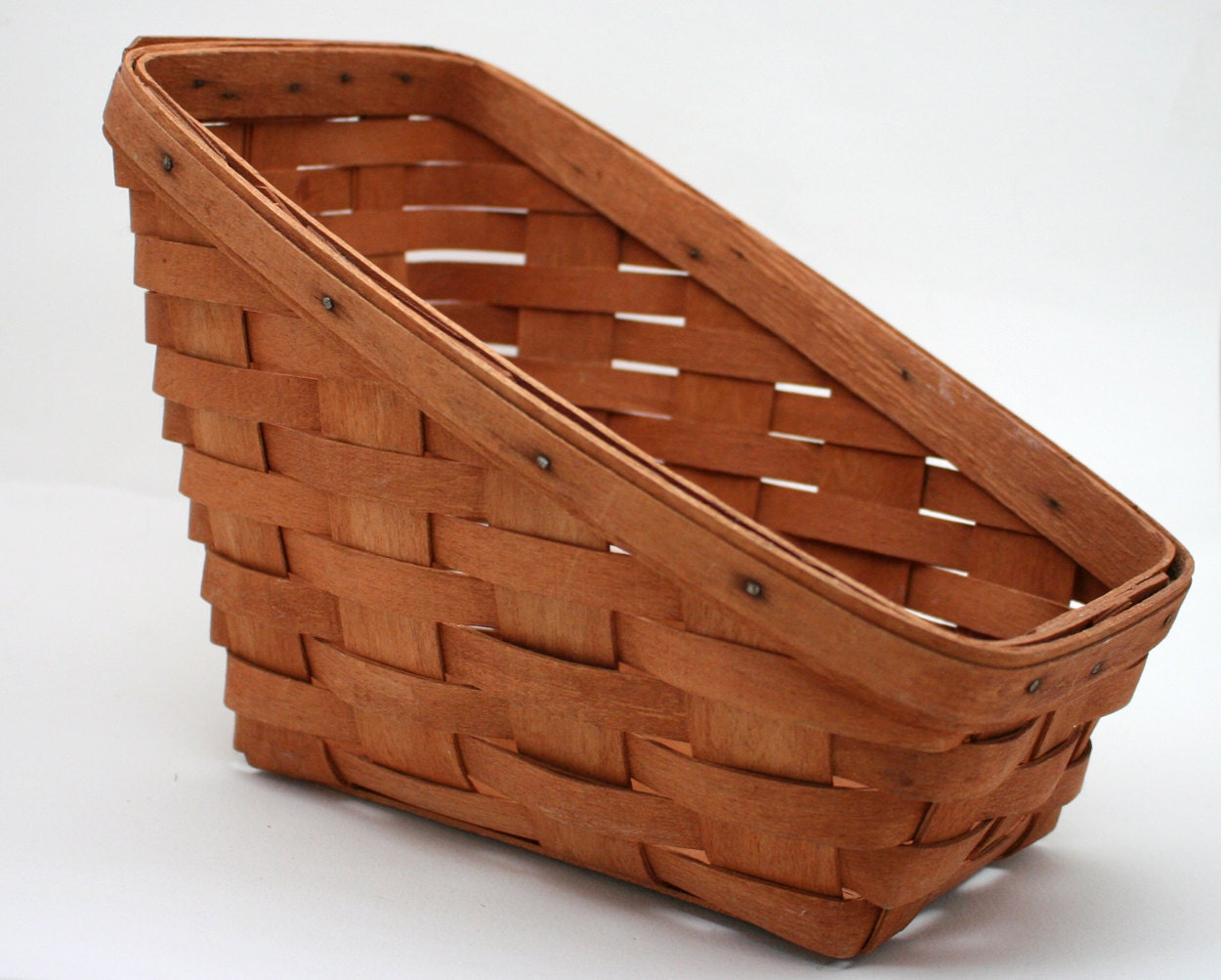vintage longaberger basket sleigh basket hand woven made in