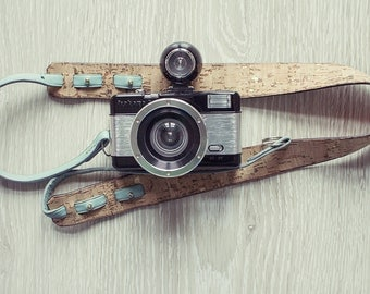 Camera Strap, Hand Crafted IN Cork and leather
