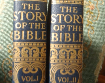 The Story of the Bible Told by Living Writers of Authority 1953 famous artist renderings