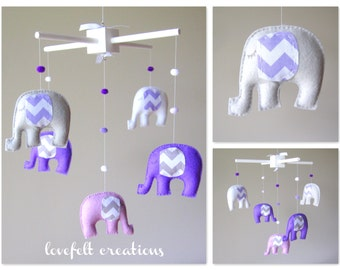 Baby  mobile - Custom Baby Mobile - Elephant Mobile - You can PICK ur COLORS  :)