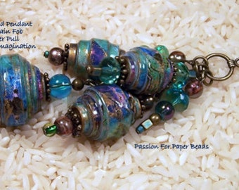Paper Bead Template S-1 Make Beautiful Layered Focal  Beads