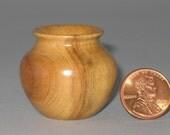 Tasmanian Native Olive Turned Wood Miniature Pot