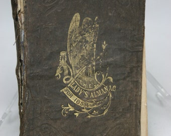 Antique Book - The Ladies Almanac For 1854