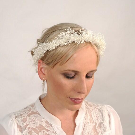Baby S Breath In Hair: Babys Breath Bridal Headpiece Wedding Crown Flower Crown