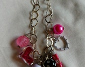 Children's Chunky Chain Bead Necklace Valentine's Day Hearts