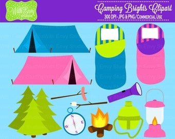 50% OFF Camping Clipart - Campfire Clipart - Outdoor Clipart - Camping Graphics - Personal and Commercial Use