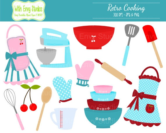 Cooking Clipart Baking Clipart Retro Cooking Clip by ...