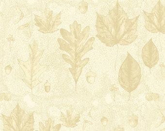Leaves, Woodsy Wonder by Quilting Treasures, Leaves Fabric, Outdoor Fabric, 1 Yard Fabric, 02278