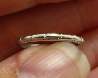 1930s  18KT white  gold eternity ring  wedding ring  anniversary ring  engraved 1933