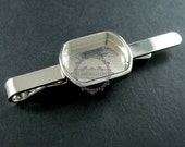 5pcs 13x18mm setting size steam punk watch movement silver DIY base tie bar clip bezel tray DIY supplies 1504005