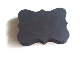 Bracket Tag 50 Black Wedding Place Cards