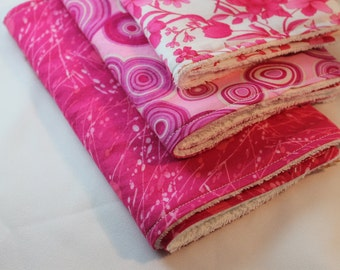 Hot Pink Burp Cloth Set