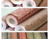 Vintage FULL ROLL Shelf Drawer Liner Paper Deep Pink Rouge / Muted Red /Dusty Rose white ferns marigolds floral foliage Petite Small Pattern