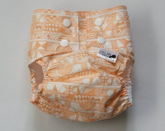 Orange Tribal PUL Water Resistant Diaper Cover Available in Small