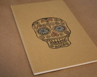 Day Of The Dead Sugar Skull Lined Journal