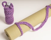 Yoga Mat Strap, Medium Purple Yoga Mat Sling Slim Tote Handle - US Shipping Included Original HH Design