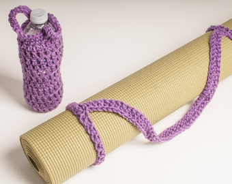 Yoga Mat Strap, Medium Purple Yoga Mat Sling Slim Tote Handle - US Shipping Included Original HH Design