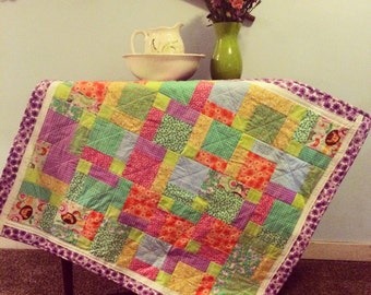 FREE SHIPPING Cheery Baby Quilt