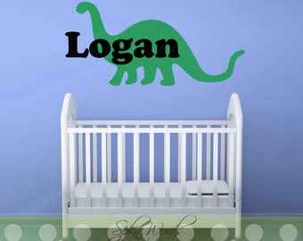 """Personalized Dinosaur Name....Vinyl Wall Decal....Your choice of color"""""""