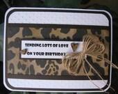 Custom Order for Cheri - Animal Print Handmade Card