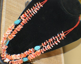 ESTATE SANTO DOMINGO Coral Sterling Necklace c1970