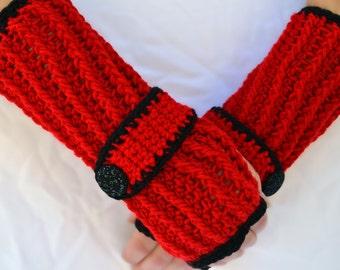 Dark passion arm warmers, fingerless gloves, texting gloves, crochet gloves, wrist warmers, hand warmers, mittens, warm gloves, winter glove