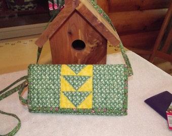 Basket Weave Quilted Soulder Bag