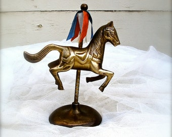 vintage Brass carousel horse, Carousel horse,  bedroom decor