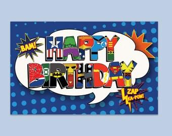 Happy Birthday Banner - digital file