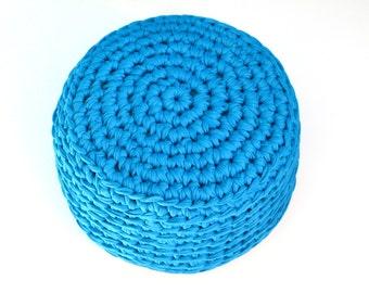 MINI POUF - crocheted, kid, yoga ottoman, foot stool, floor pillow - custom color